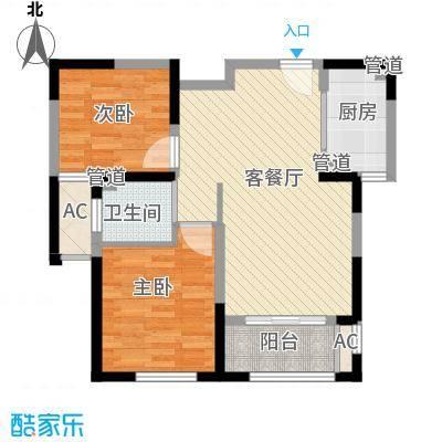 远洋香奈85.00㎡远洋香奈户型图B-3户型平面图2室2厅1卫1厨户型2室2厅1卫1厨