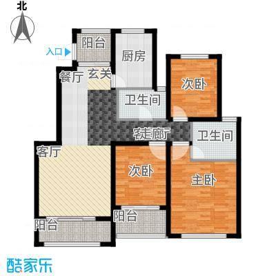 星河蓝湾115.00㎡星河蓝湾户型图H5户型3室2厅2卫1厨户型3室2厅2卫1厨