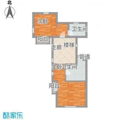 上置绿洲香岛原墅152.02㎡上置绿洲香岛原墅户型图B型金装叠墅(上叠)三层2室2厅1卫户型2室2厅1卫