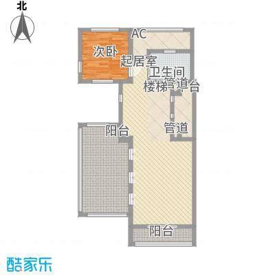 上置绿洲香岛原墅152.02㎡上置绿洲香岛原墅户型图B型金装叠墅(上叠)四层1室1厅1卫户型1室1厅1卫