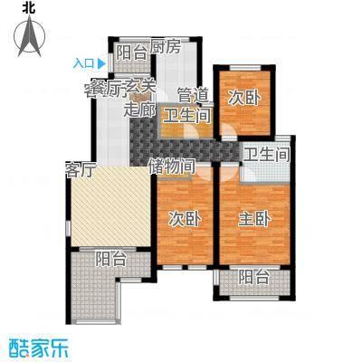 星河蓝湾124.00㎡星河蓝湾户型图H2户型3室2厅2卫1厨户型3室2厅2卫1厨