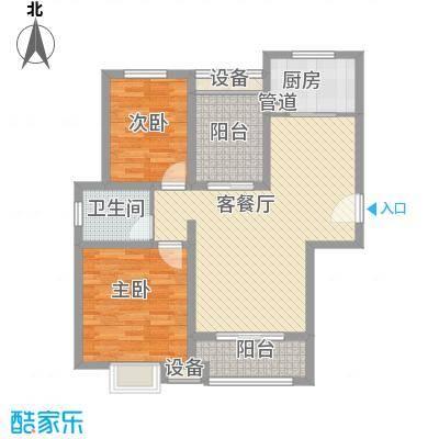 晟地润园107.00㎡A1户型3室1厅1卫1厨