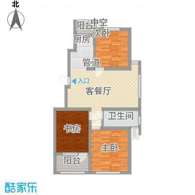 江都恒通帝景蓝湾102.00㎡T户型3室2厅1卫1厨