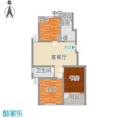 江都恒通帝景蓝湾103.09㎡C户型3室2厅1卫1厨