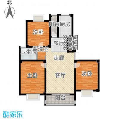 江城壹品125.25㎡F户型3室2厅1卫1厨
