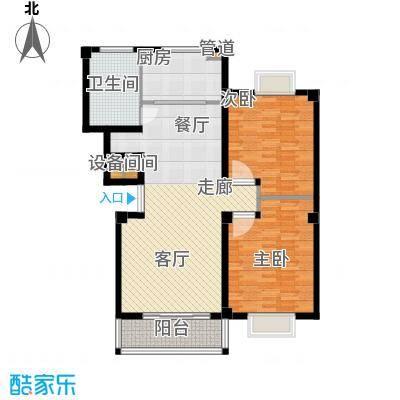 江城壹品109.00㎡C户型2室2厅1卫1厨