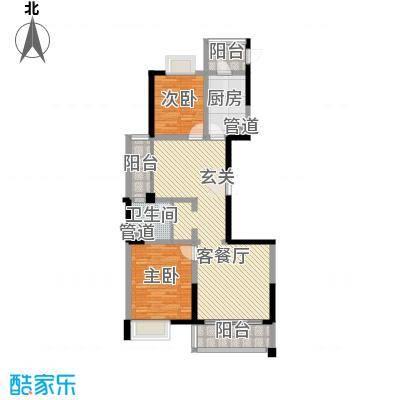 新时代广场116.00㎡02/07户型2室2厅1卫1厨