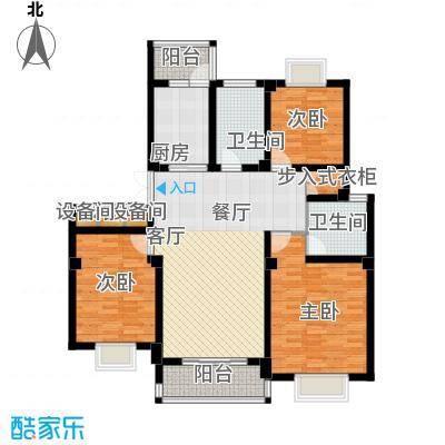 江城壹品121.80㎡D户型3室2厅2卫1厨