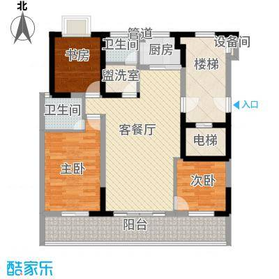 明珠山庄122.68㎡G户型3室2厅2卫1厨