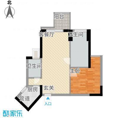 阳光花地62.10㎡阳光花地户型图62平2房2室2厅1卫户型2室2厅1卫