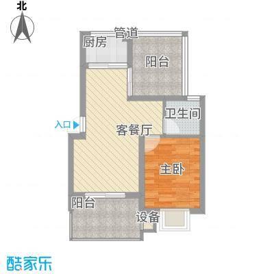 世纪尊园户型图户型图 1室2厅1卫1厨