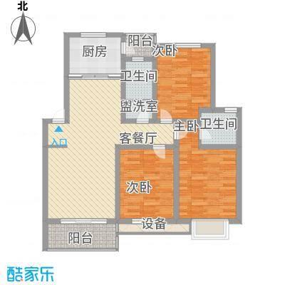 世纪尊园户型图户型图 3室2厅2卫1厨