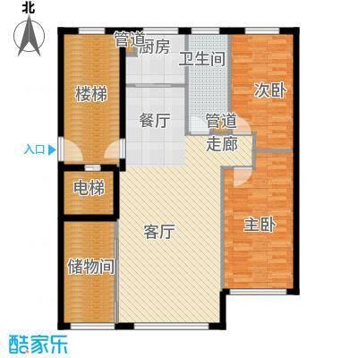 五四华庭户型图4号、5号楼户型 3室2厅1卫1厨