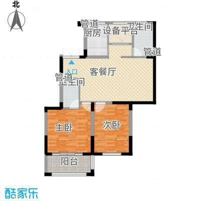 桐园106.00㎡桐园户型图E户型一层2室2厅2卫1厨户型2室2厅2卫1厨