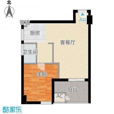 万豪西花苑户型图小公寓户型三 1室1厅1卫1厨