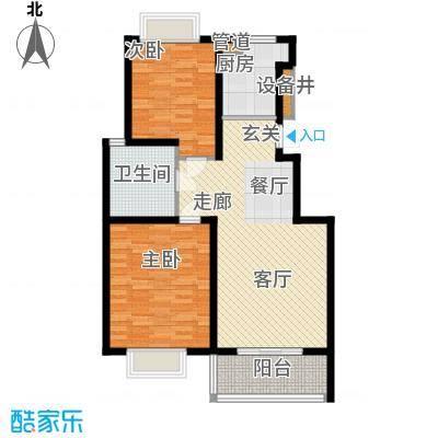 扬州印象花园87.00㎡扬州印象花园户型图A1户型2室2厅1卫1厨户型2室2厅1卫1厨