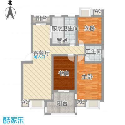万豪西花苑户型图4A户型 3室2厅2卫1厨