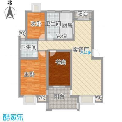 万豪西花苑户型图3A标准层户型 3室2厅2卫1厨