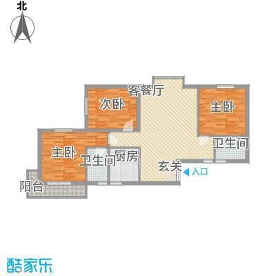 利安东庭119.24㎡利安东庭户型图A1/A2户型3室2厅2卫1厨户型3室2厅2卫1厨