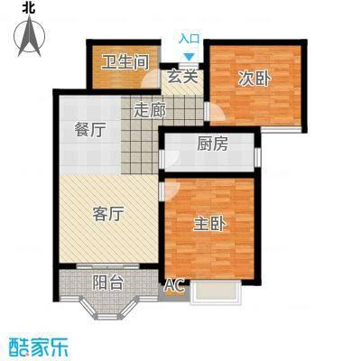 美寓华庭三期高新尚居93.32㎡美寓华庭户型图E2室2厅1卫1厨户型2室2厅1卫1厨