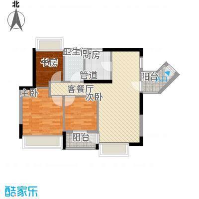 万科新里程88.00㎡万科新里程户型图B5栋03单元3室2厅1卫1厨户型3室2厅1卫1厨