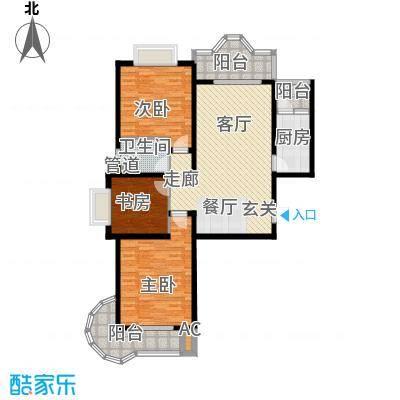 美寓华庭三期高新尚居116.15㎡美寓华庭户型图F3室2厅1卫1厨户型3室2厅1卫1厨