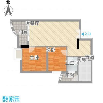方凯华庭84.58㎡方凯华庭户型图A-D单元2室2厅1卫1厨户型2室2厅1卫1厨