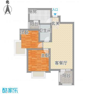金色家园85.07㎡金色家园户型图1#B/C户型2室2厅1卫1厨户型2室2厅1卫1厨