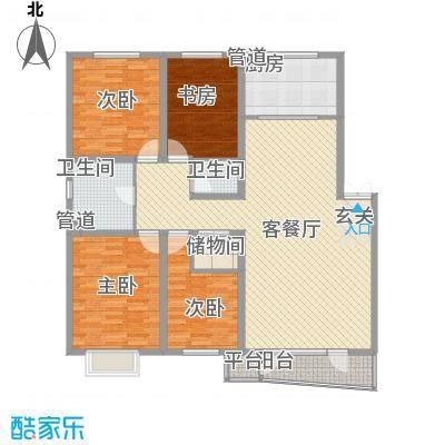 亲亲我家153.00㎡一期10号楼六层G户型3室2厅2卫1厨