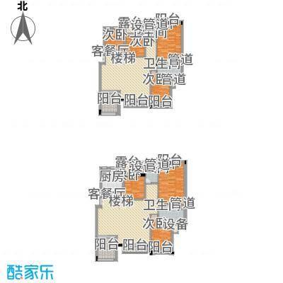 万科蓝山200.00㎡万科蓝山户型图D1-4025室2厅3卫1厨户型5室2厅3卫1厨