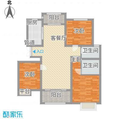 曲江风景线133.32㎡曲江风景线户型图F2户型3室2厅2卫1厨户型3室2厅2卫1厨