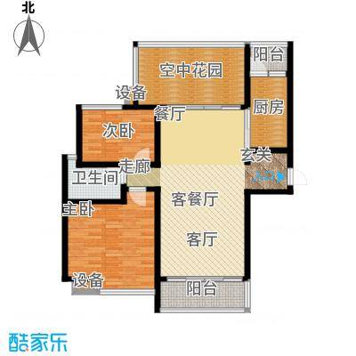 曲江诸子阶111.00㎡曲江诸子阶户型图2#B2户型2室2厅1卫1厨户型2室2厅1卫1厨