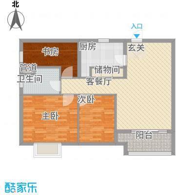 润华国际中心100.18㎡润华国际中心户型图C5户型3室2厅1卫户型3室2厅1卫