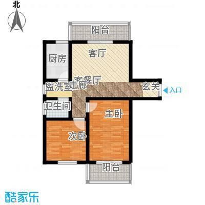 学府中央83.41㎡学府中央户型图83.41平米户型图2室2厅1卫1厨户型2室2厅1卫1厨