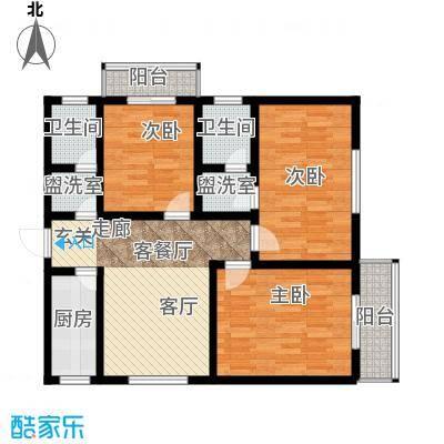 学府中央96.76㎡学府中央户型图96.76平米户型图3室1厅2卫1厨户型3室1厅2卫1厨