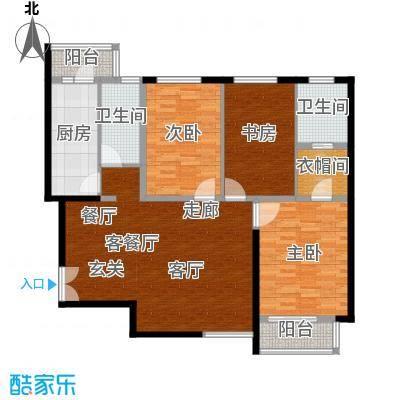 建邦华庭129.00㎡建邦华庭户型图A1户型图3室2厅2卫1厨户型3室2厅2卫1厨