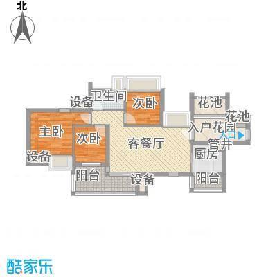 万科天景花园90.00㎡万科天景花园户型图3室2厅户型图3室2厅1卫户型3室2厅1卫