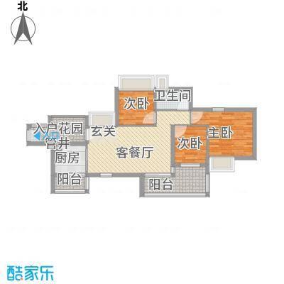 万科天景花园90.00㎡万科天景花园户型图3室2厅户型图3室2厅1卫1厨户型3室2厅1卫1厨