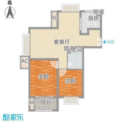 南通中央商务区117.00㎡南通中央商务区2室户型2室