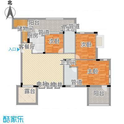 万科蓝山135.00㎡万科蓝山户型图情景HOUSE三层3室2厅2卫1厨户型3室2厅2卫1厨
