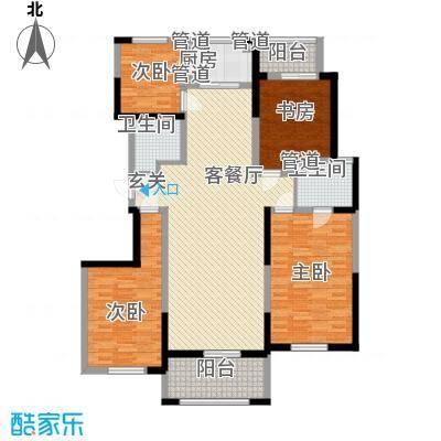 九鼎城户型图150平尊鼎户型图 4室2厅2卫1厨