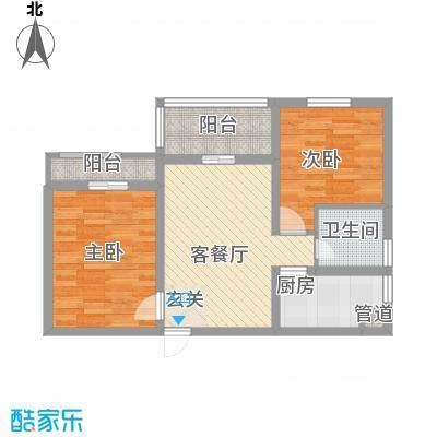 永新苑・西区户型图A1 2室1厅1卫1厨