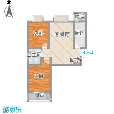 汉城湖一号户型图创意格调 2室2厅1卫1厨