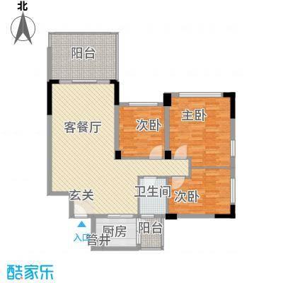 莲园新村户型图3室2厅户型图 3室2厅1卫1厨