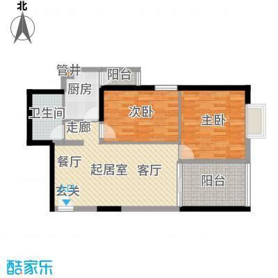 南门望城户型图b6户型 2室2厅1卫1厨