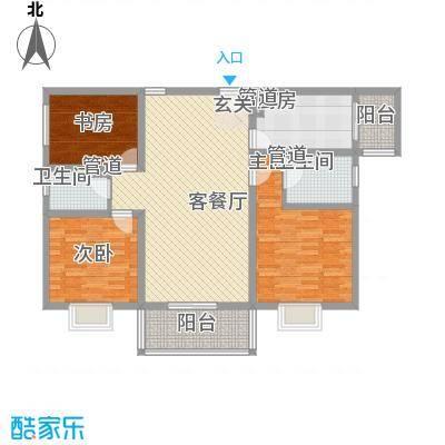 澳城大厦124.63㎡澳城大厦户型图A1户型3室2厅2卫1厨户型3室2厅2卫1厨