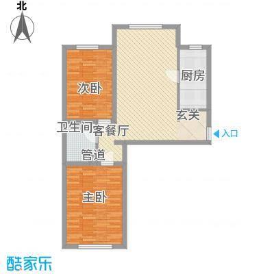 世纪阳光花园2室1厅7户型2室1厅1卫1厨