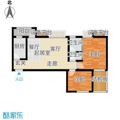 阳光北京城82.00㎡阳光北京城户型图82㎡户型2室2厅1卫1厨户型2室2厅1卫1厨