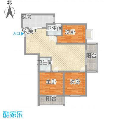 盛城东星123.00㎡盛城东星户型图C户型3室2厅2卫1厨户型3室2厅2卫1厨