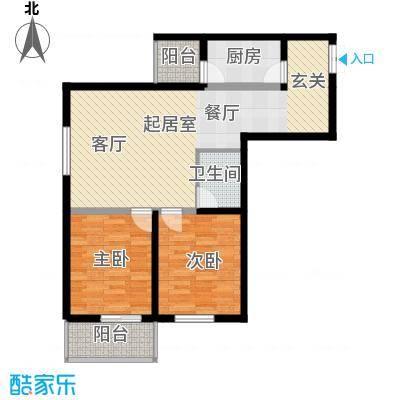 山水华城102.31㎡山水华城户型图2#F户型2室2厅1卫1厨户型2室2厅1卫1厨